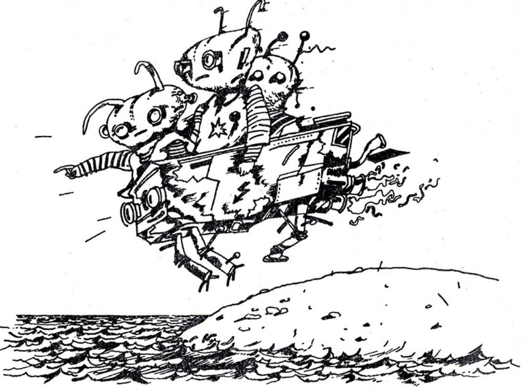 1987, книжка 5 – Виолетовите нашественици - рисунка - Киро Мавров